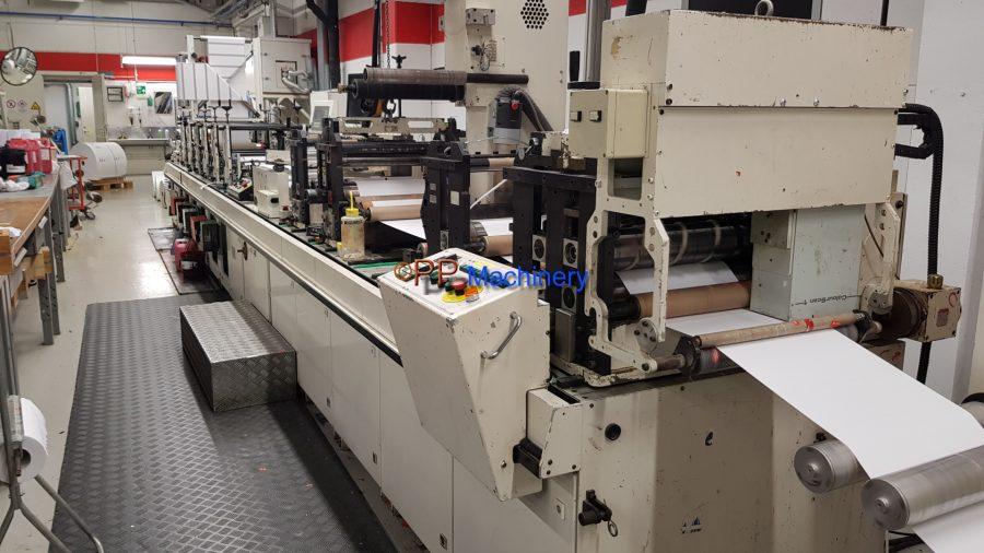 Gallus Arsoma EM 410 6 colours flexo label printing machine UV and hot air