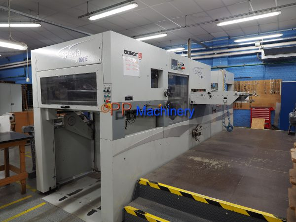BOBST SPERIA 106 E from 2007 Automatic Die Cutter