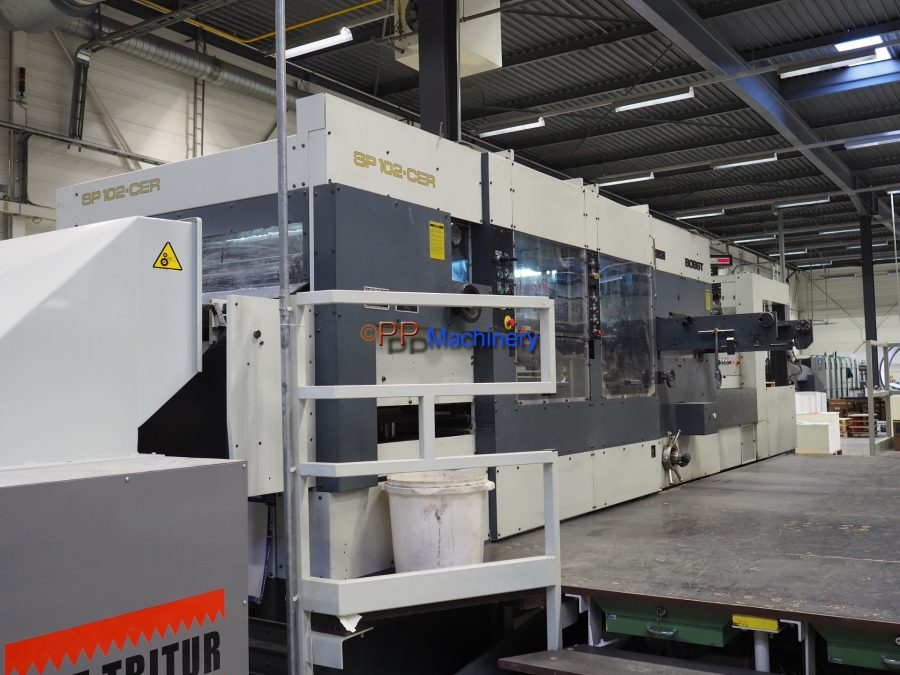 BOBST SP 102 CER Automatic Die Cutter with stripping and blanking