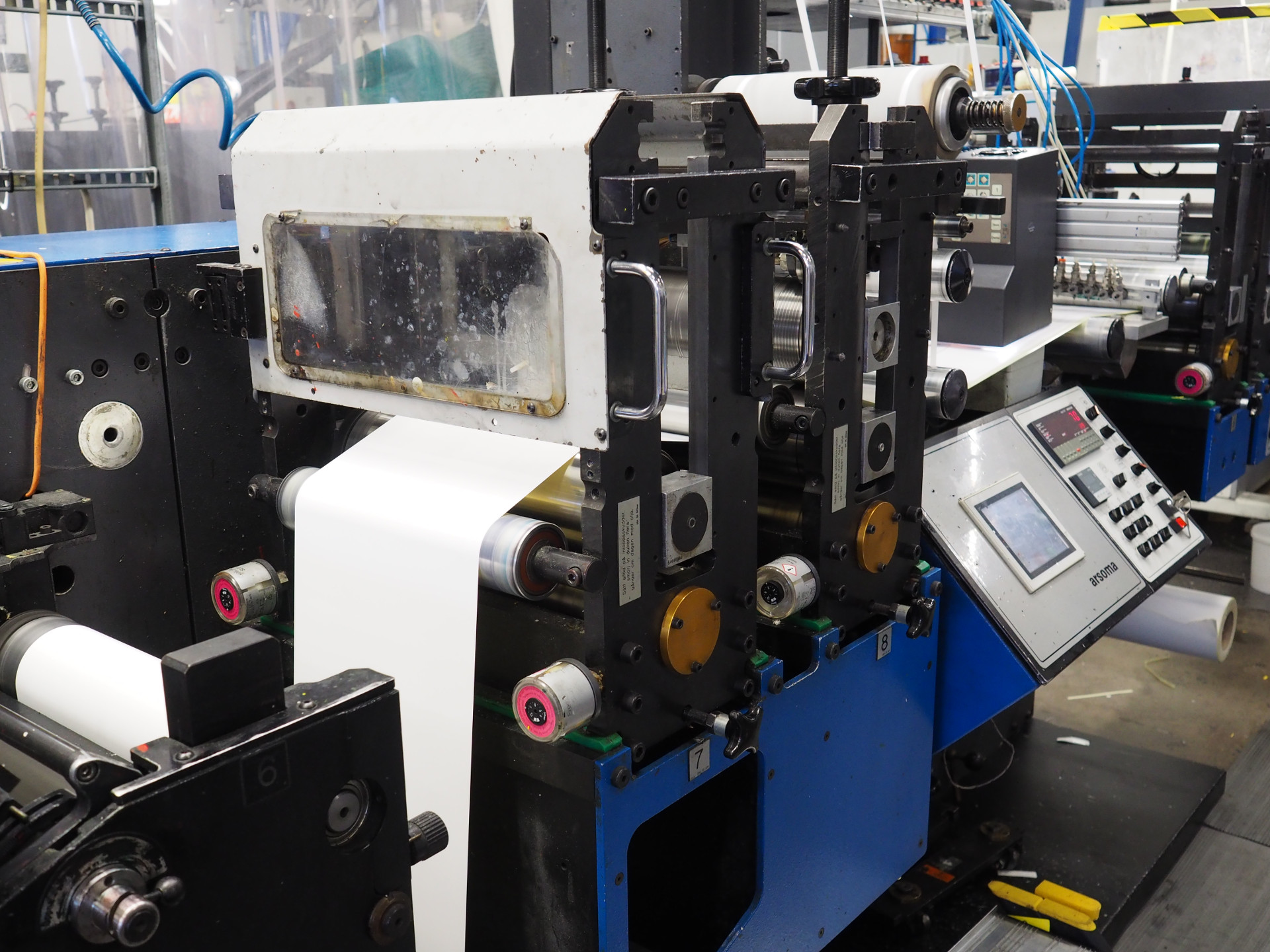 Gallus Em 280 6 Colours Flexo Printing Machine From 1999 With Uv And
