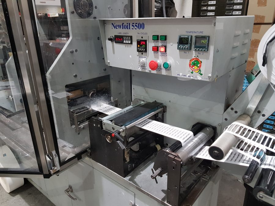 Newfoil 5500 hotfoil stamping machine