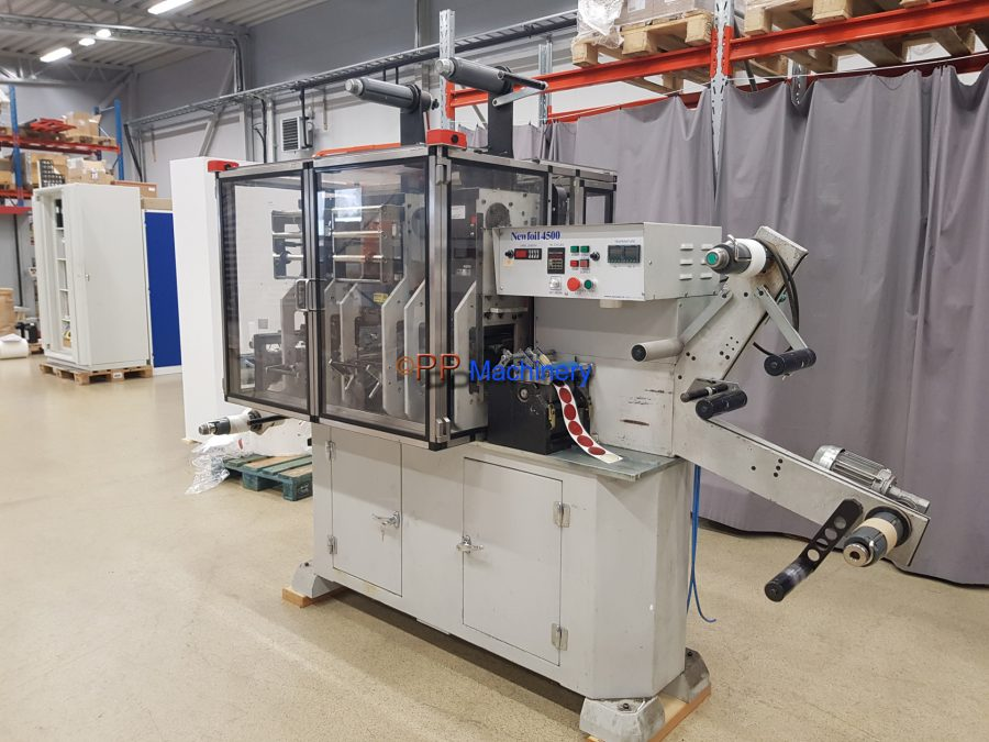 Newfoil 4500 Hot foil stamping machine for labels from 1996