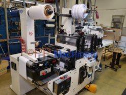 Burton Engineering Omega SR 330 Slitter Rewinder with 2 die cutters and Slitting unit