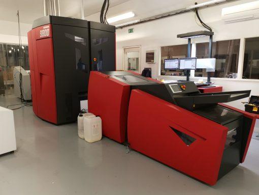 Xeikon 9800 digital printing press 5 colours digital press