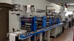 Smag 2 colour Flexo printer - Slitter Rewinder - Die cutter - Sheeting station 310 mm
