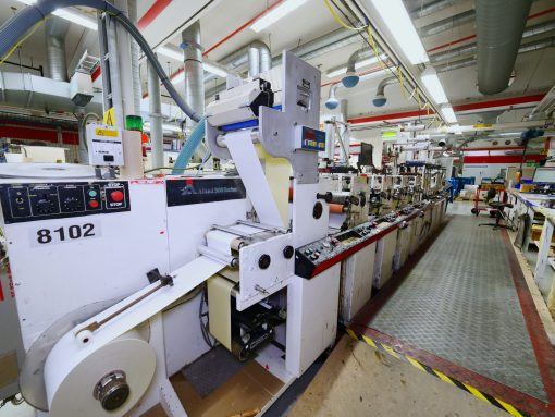 Allied 3000 4 colours flexo labe press