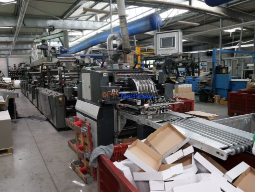 Rotatek FXFX2 7 colors Flexi label press with laminator and Screen printer from 2003