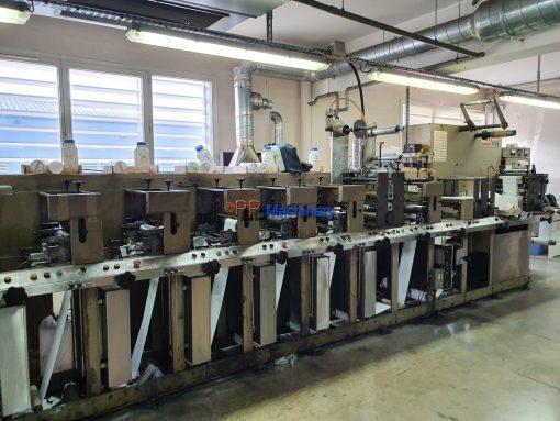 Aquaflex 7 colour Flexo printing machine - Waterbased - Cold foil application