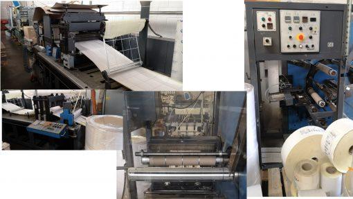 Gallus Arsoma EM 510 + TR 510 Slitter Rewinder die cutter Turret Rewinder