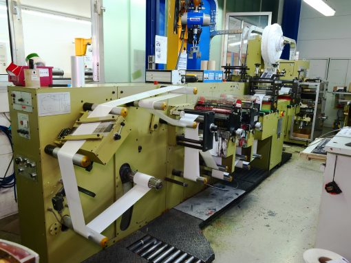 Gallus EM 220 flexo label printer