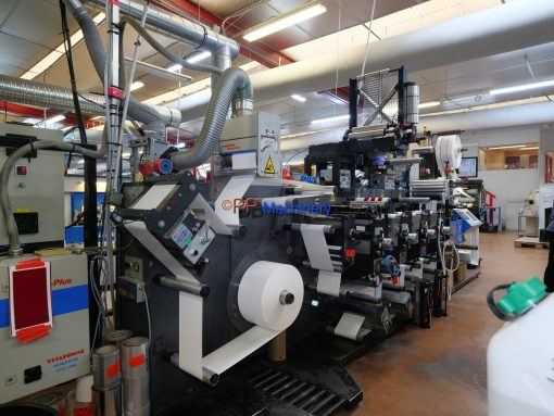 Gallus EM 280 4 colours flexo label press from 2005 for immediate sale