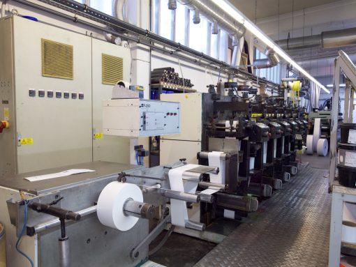Nilpeter F 240 6 colours flexo label pres in Cologne - Germany