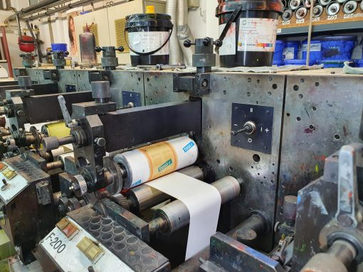 Nilpeter F 240 6 colours flexo label pres