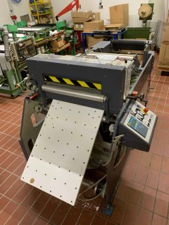 Kinzel label sheeter - roll to sheet