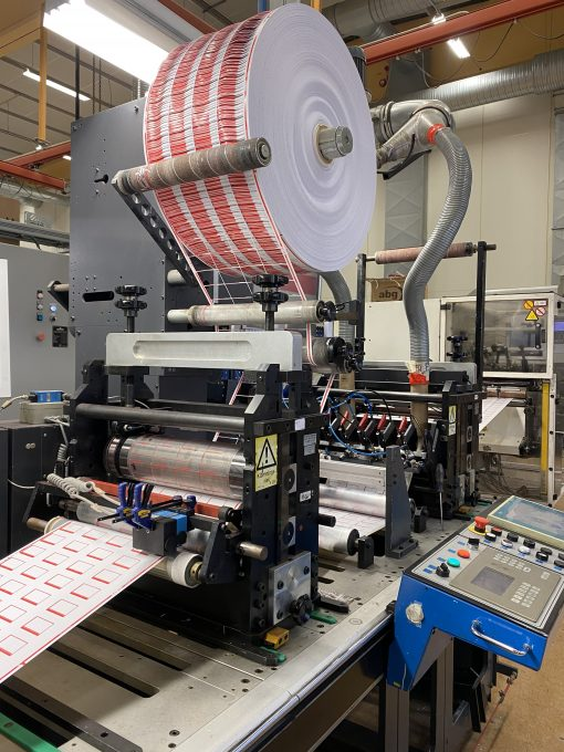 2005 Gallus EM 410 7 colours flexo label press
