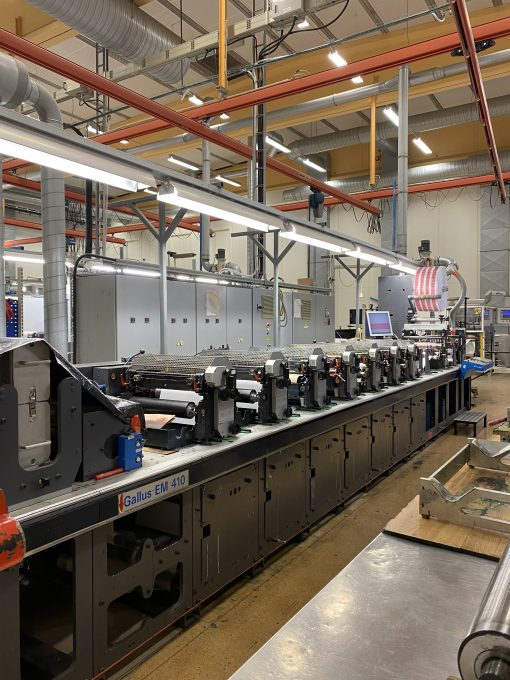 2005 Gallus EM 410 7 colours Flexo press