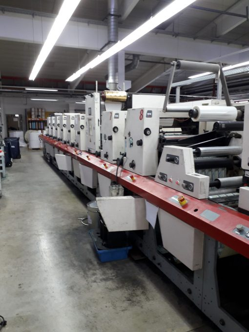 MPS EP 410-8 8 colours Flexo label printing press full chilled rollers